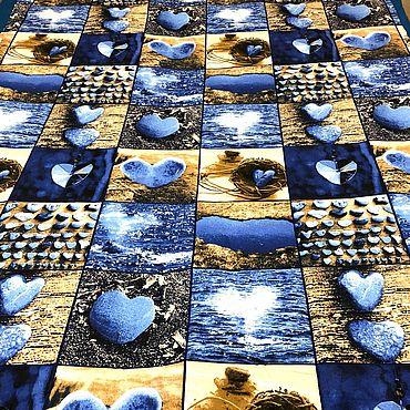 Текстиль ручной работы. Ярмарка Мастеров - ручная работа Одеяло Морские мотивы. Handmade.