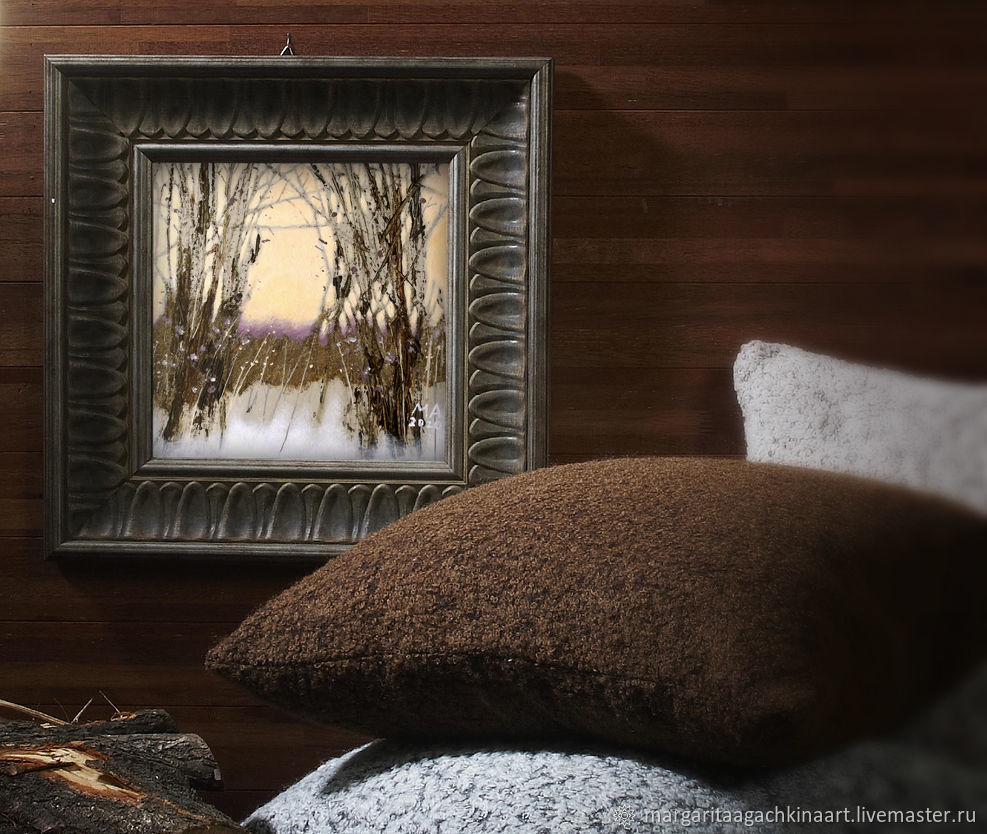 Picture Quiet day (forest, landscape, peach, brown, gray), Pictures, Smolensk,  Фото №1