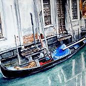 """Картины ручной работы. Ярмарка Мастеров - ручная работа Картина акварель, Венеция. """"Гондола"""". Handmade."""