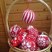 Подарки к праздникам ручной работы. Ярмарка Мастеров - ручная работа Ёлочный шарик Диагональ. Handmade.