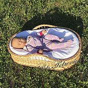 """Для дома и интерьера ручной работы. Ярмарка Мастеров - ручная работа """"Гнездышко"""" переносная люлька для новорожденных. Handmade."""