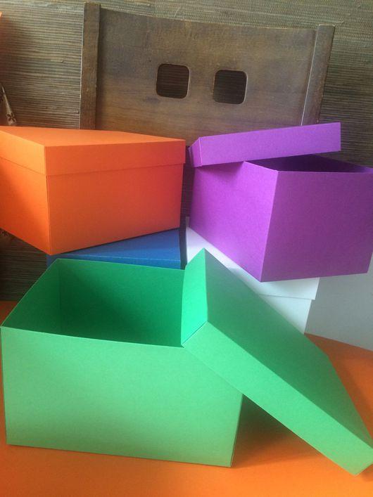 Упаковка ручной работы. Ярмарка Мастеров - ручная работа. Купить Коробочки 20-15-12 в наличии. Handmade. Разноцветный