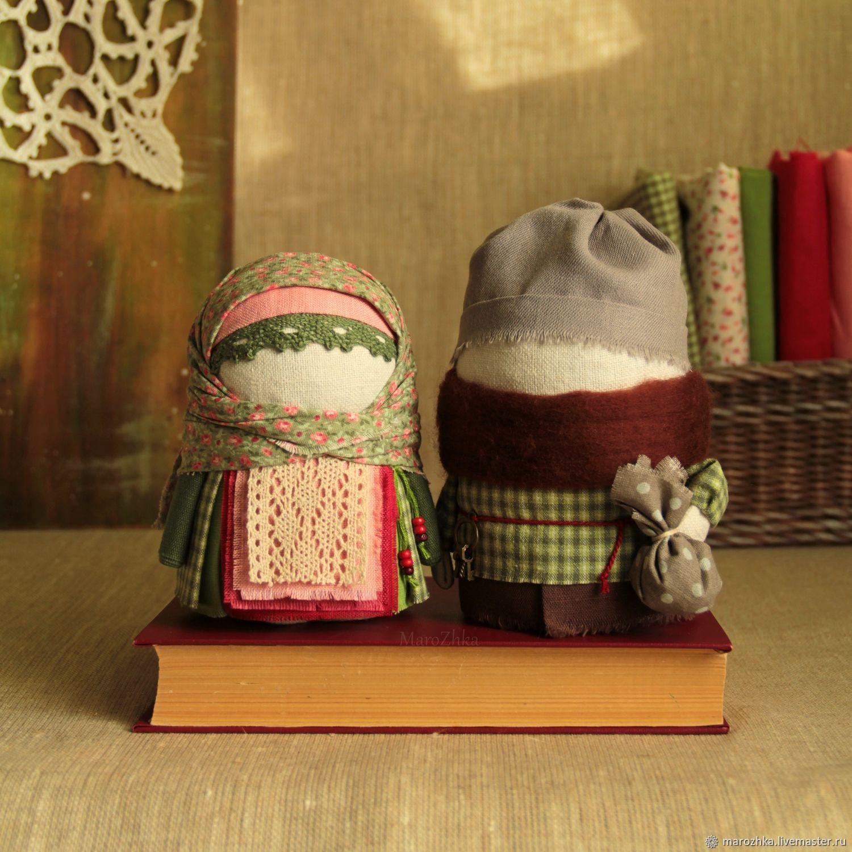 Крупеничка и Богач Яблоневый цвет кукла народная зелёный ягодный, Народная кукла, Коломна,  Фото №1