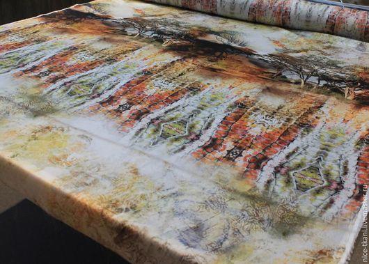"""Шитье ручной работы. Ярмарка Мастеров - ручная работа. Купить 08401 итальянский искусственный шелк """"сафари"""". Handmade. Комбинированный"""