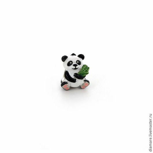 Арт. 05-0255. Серебряный шарм `Панда`.