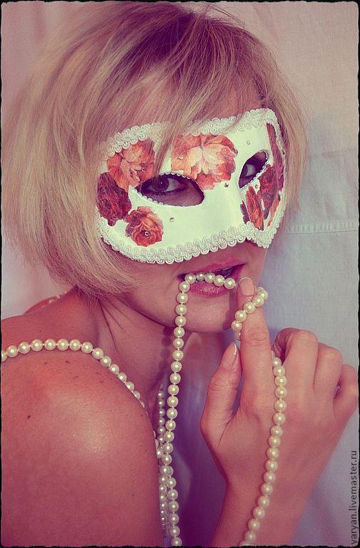 Интерьерные  маски ручной работы. Ярмарка Мастеров - ручная работа. Купить Коломбиана. Handmade. Белый, нежный, цветы, ручная работа