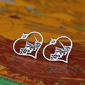 """Серьги классические ручной работы. Ярмарка Мастеров - ручная работа Серьги """"Горы это любовь"""". Handmade."""