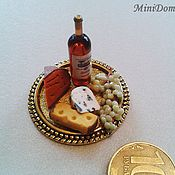 Куклы и игрушки handmade. Livemaster - original item Food for dolls - Cheese board for dollhouse miiature. Handmade.