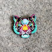 Украшения handmade. Livemaster - original item Rainbow tiger mini brooch. Handmade.