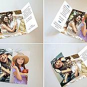 Приглашения ручной работы. Ярмарка Мастеров - ручная работа Приглашение на свадьбу с фотографиями молодожёнов. Handmade.