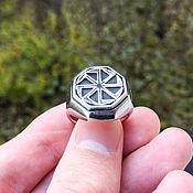 Украшения handmade. Livemaster - original item Ring of steel Kolyadnik. Handmade.