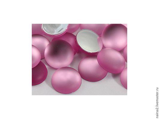 Для украшений ручной работы. Ярмарка Мастеров - ручная работа. Купить Кабошоны Lunasoft (круг 11 мм). Handmade. Розовый