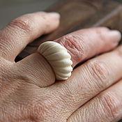 """Винтаж ручной работы. Ярмарка Мастеров - ручная работа Кольцо """"Чалма"""" из натуральной слоновой кости (бивень), винтаж, Европа. Handmade."""