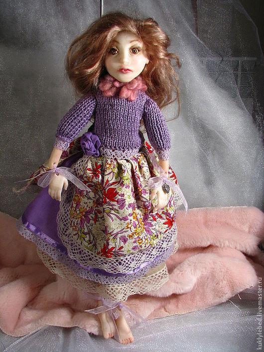 """Коллекционные куклы ручной работы. Ярмарка Мастеров - ручная работа. Купить Кукла из пластика """"Мишель"""". Handmade. Сиреневый, интерьерная кукла"""