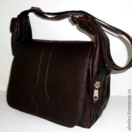 """Мужские сумки ручной работы. Ярмарка Мастеров - ручная работа. Купить """"Алекс"""" сумка кожаная мужская. Handmade. Коричневый, для мужчин"""