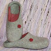 """Обувь ручной работы. Ярмарка Мастеров - ручная работа Тапочки валяные """"Летний денек"""" Стиль-минимализм. Handmade."""