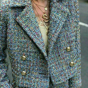 Одежда из ткани шанель купить матренин посад канва с рисунком интернет магазин вышивка крестом распродажа