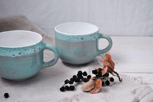 Кружки и чашки ручной работы. Ярмарка Мастеров - ручная работа. Купить Кружка из глины Мятное мороженое. Handmade. Кружка, кружечка