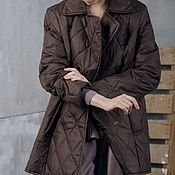 Одежда handmade. Livemaster - original item Women`s insulated coat Coffee Mix. Handmade.