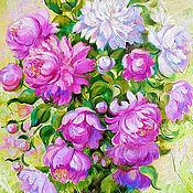 Картины и панно handmade. Livemaster - original item Oil painting peony