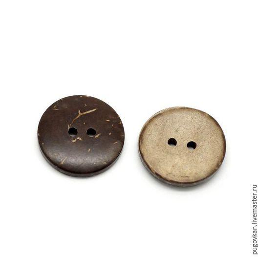 Шитье ручной работы. Ярмарка Мастеров - ручная работа. Купить Пуговицы кокосовые 20 мм. Handmade. Декоративные пуговицы, коричневый