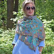 Аксессуары handmade. Livemaster - original item Golden Bees felted scarf, elegant silk accessory. Handmade.