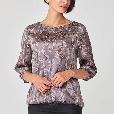 """Одежда ручной работы. Ярмарка Мастеров - ручная работа Шелковая блузка """"Комфорт"""". Handmade."""