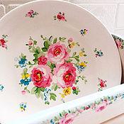Для дома и интерьера ручной работы. Ярмарка Мастеров - ручная работа Набор для кухни Короб и настенная тарелка. Handmade.