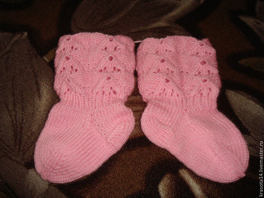 носки с ажурной резинкой, на ножки от 1 года до 1,5 лет