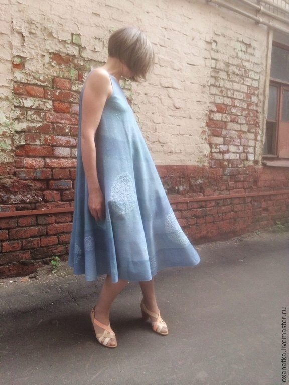Felted dress Sea waves, Dresses, Moscow,  Фото №1