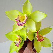 Украшения ручной работы. Ярмарка Мастеров - ручная работа Лимонные орхидеи. Handmade.