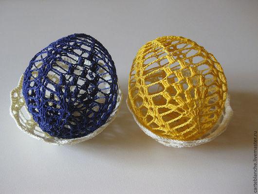 Подарки на Пасху ручной работы. Ярмарка Мастеров - ручная работа. Купить Пасхальные яйца, ажурные в корзиночке. Handmade. Пасхалные яйца