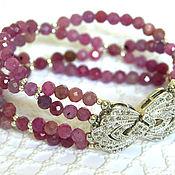 Украшения handmade. Livemaster - original item Bracelet with natural ruby and fittings of LUXURY.. Handmade.