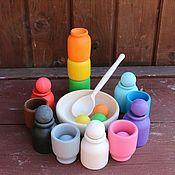 Кукольная еда ручной работы. Ярмарка Мастеров - ручная работа Шарики и ступки (стандартные). Деревянные развивающие игрушки. Handmade.