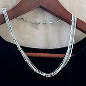 Украшения handmade. Livemaster - original item Silver Chain Necklace. Handmade.