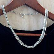 Украшения handmade. Livemaster - original item Silver Chain Necklace. Handmade.