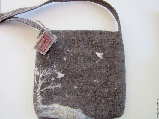 Женские сумки ручной работы. Ярмарка Мастеров - ручная работа. Купить валяная  сумка -Птицы, сумка ручной работы,. Handmade.