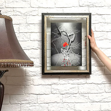 """Картины и панно ручной работы. Ярмарка Мастеров - ручная работа """"Аленький цветочек"""". Handmade."""