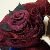 Украшения ручной работы. Ярмарка Мастеров - ручная работа Войлочная брошь - цветок. Handmade.