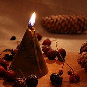 Ритуальная свеча ручной работы. Ярмарка Мастеров - ручная работа Ворожейная свеча `очищение пространства`. Handmade.