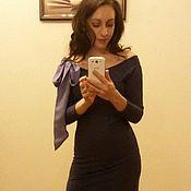 Одежда ручной работы. Ярмарка Мастеров - ручная работа Платье с бантом из джерси. Handmade.