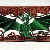 Украшения ручной работы. Ярмарка Мастеров - ручная работа Напульсник с резным драконом. Handmade.
