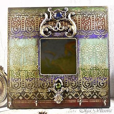 For home and interior handmade. Livemaster - original item Housekeeper - Hanger - Mirror