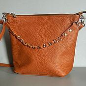 Сумки и аксессуары handmade. Livemaster - original item Leather bag. Crossbody bag. Hobo small. Red. Handmade.