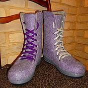 Обувь ручной работы. Ярмарка Мастеров - ручная работа Ботинки валяные женские. Handmade.