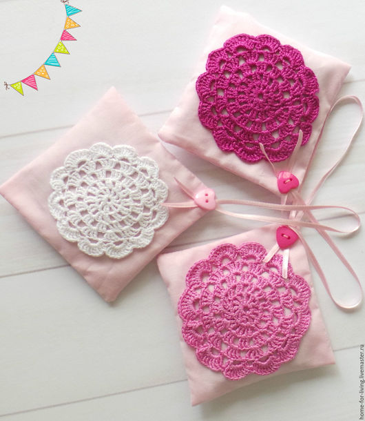 """Текстиль, ковры ручной работы. Ярмарка Мастеров - ручная работа. Купить Саше """"Монпасье"""" розовый. Handmade. Розовый, саше с лавандой"""