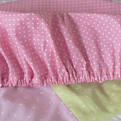 Для дома и интерьера ручной работы. Ярмарка Мастеров - ручная работа Простынка на резинке для детской кроватки. Handmade.