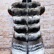 Одежда ручной работы. Ярмарка Мастеров - ручная работа Жилет из шиншиллы , лисы и яка. Handmade.