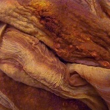 Аксессуары ручной работы. Ярмарка Мастеров - ручная работа Палантин в терракотовых тонах. Handmade.
