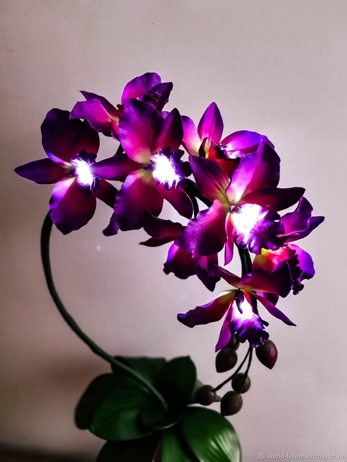 Flower-lamp ' Purple Orchid', Table lamps, Surgut,  Фото №1